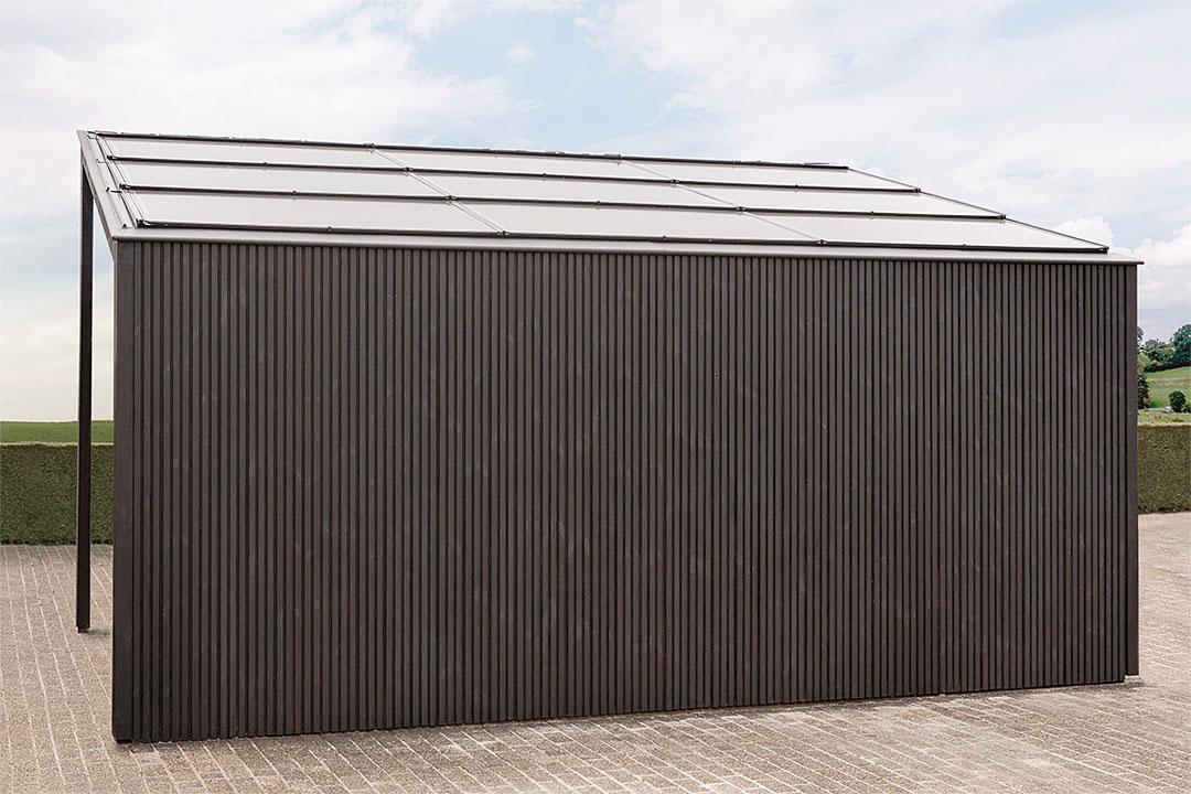 moderne carports livinlodge houten bijgebouwen. Black Bedroom Furniture Sets. Home Design Ideas