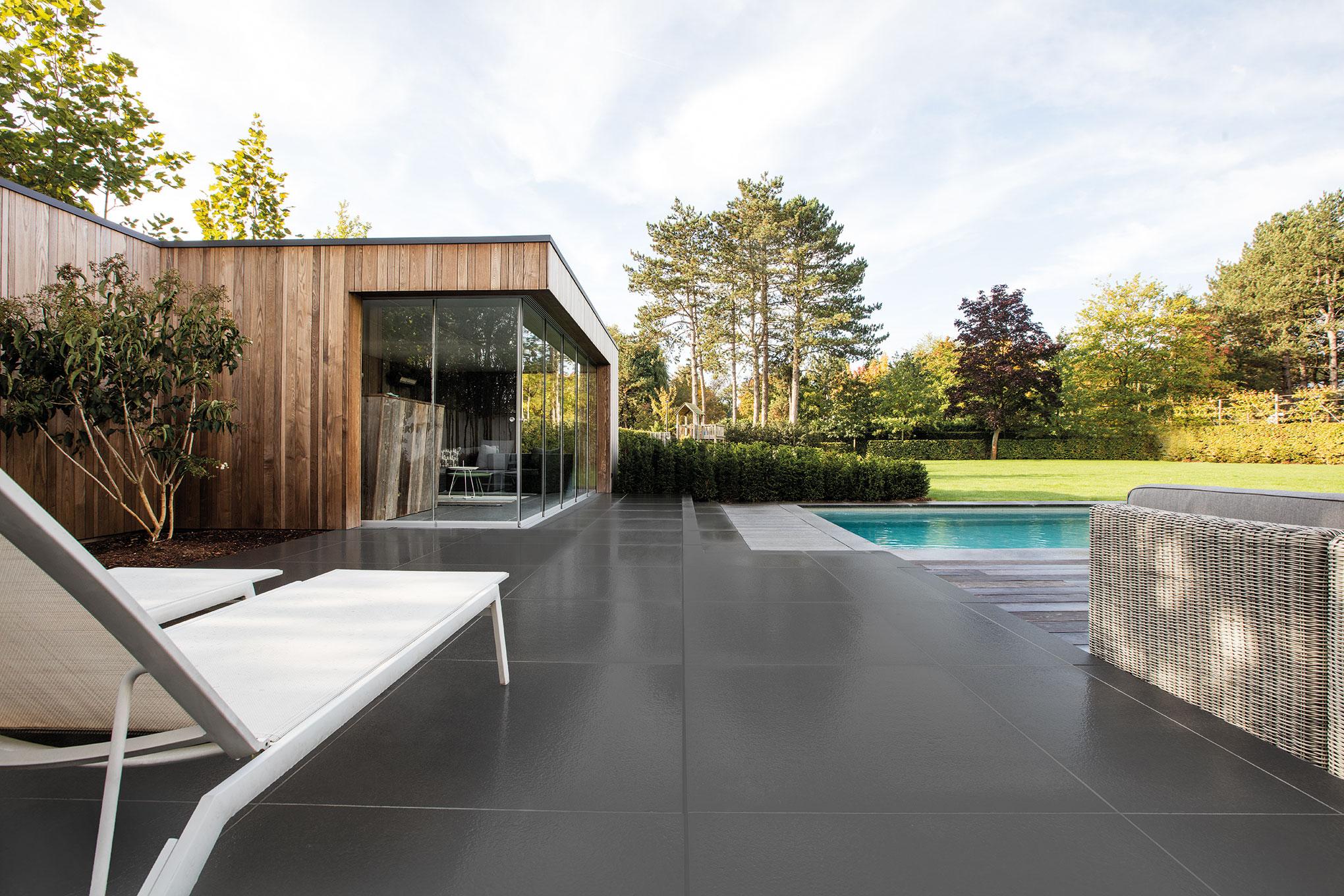 Wandbekleding poolhouse ecosia