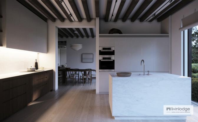 Keuken houten huis