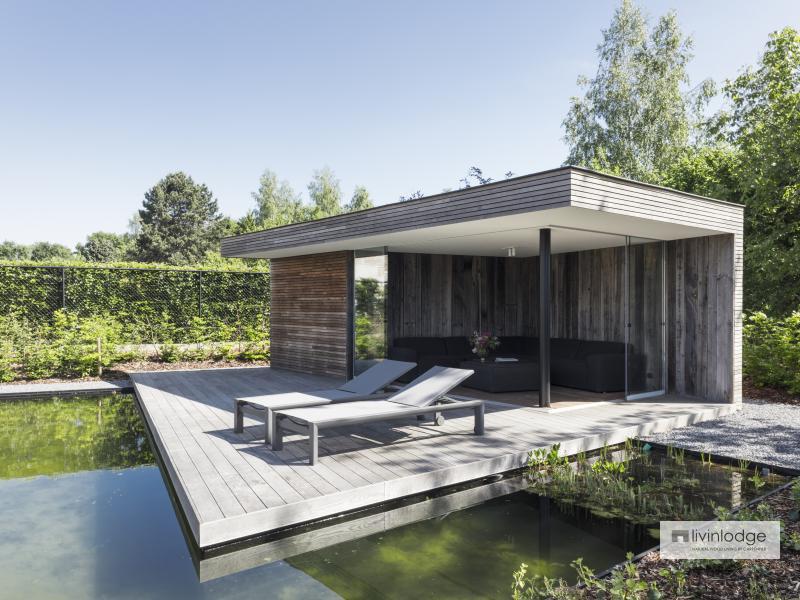 Moderne poolhouse met zwevend terras in Betekom | Livinldoge