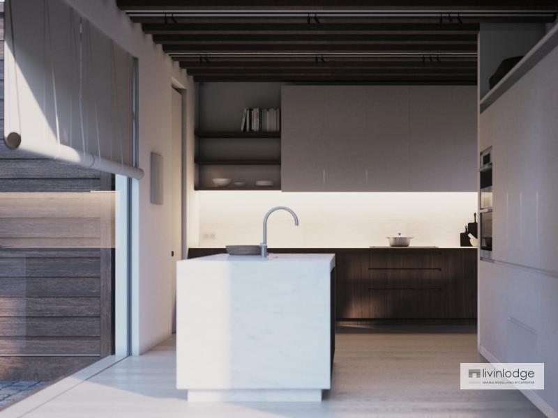 Keuken houten woning