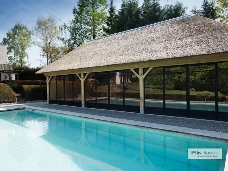 Exclusieve poolhouse met verdieping te Ronse | Houten bijgebouwen op maat