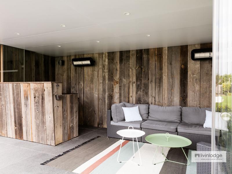 Moderne poolhouse in HOTwood essen te Zwijnaarde | Houten bijgebouwen te koop