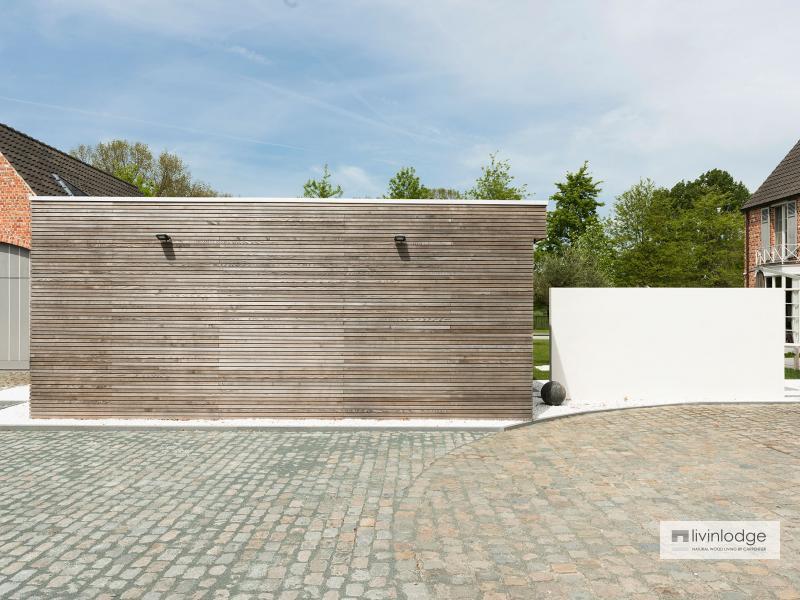 Moderne tuinstudio annex Houtoven te Brussel | Houten bijgebouwen op maat