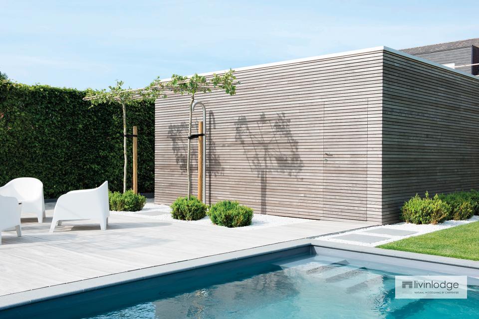Moderne poolhouse - houten bijgebouwen op maat