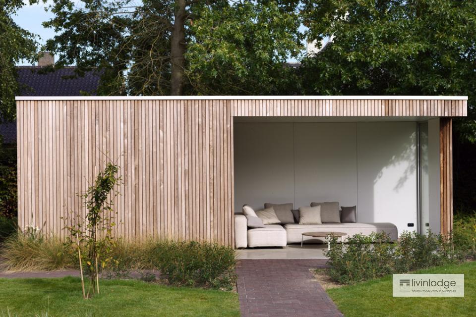 Moderne tuinberging annex loungeruimte te Roeselare