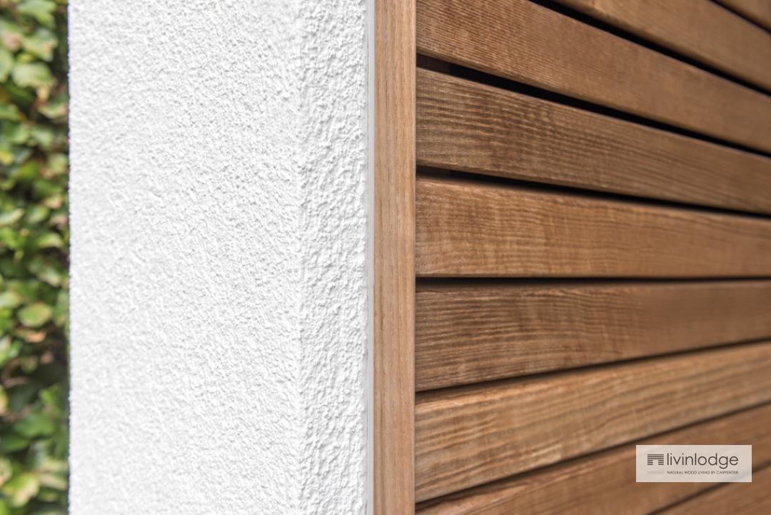 Duurzame houten poolhouse op maat