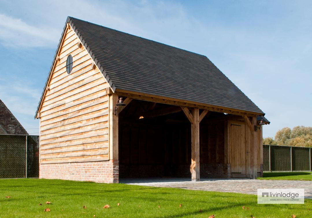 eiken carport - houten bijgebouwen op maat