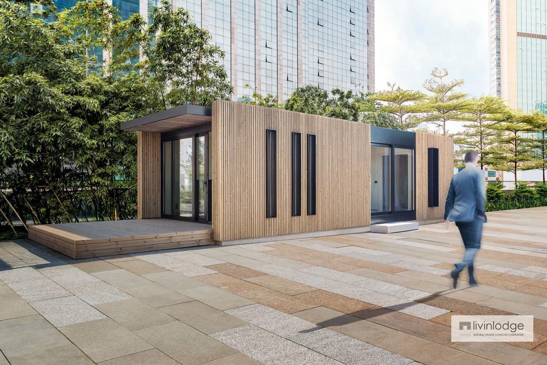 Mobiel Kantoor Huren : Mobiele woonunit livinlodge houten bijgebouwen