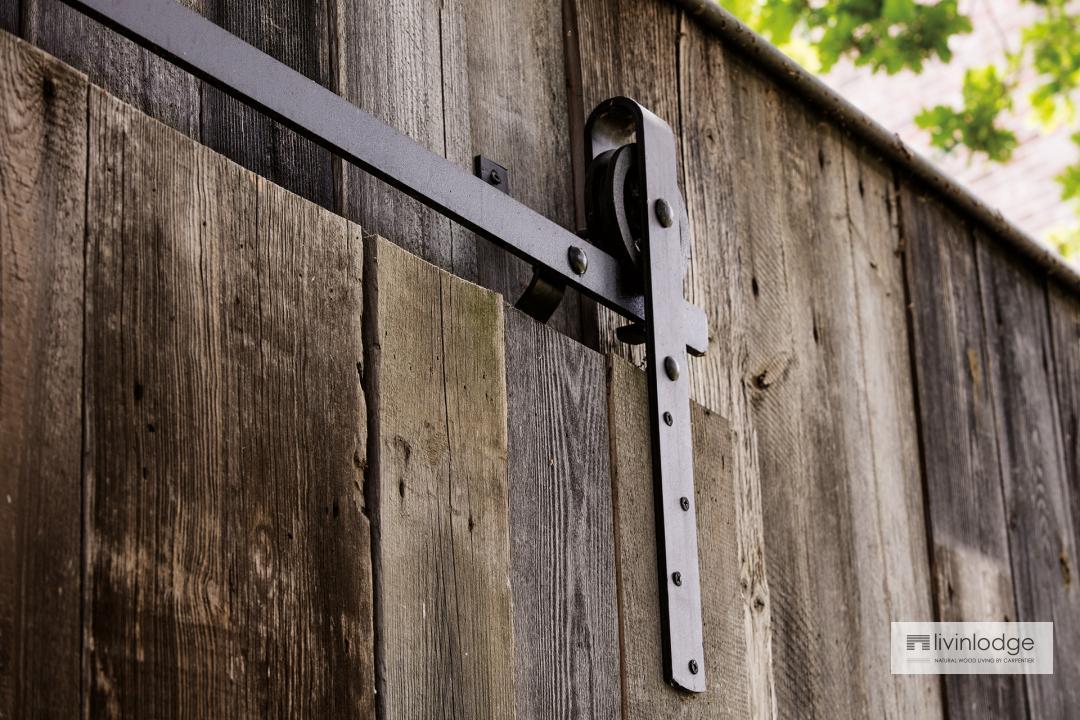 """Pure"" houten tuinberging Ducaju, detail."