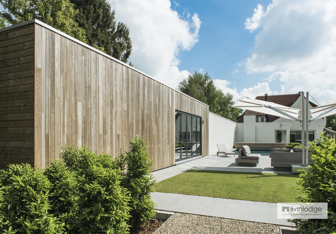 Moderne aanbouw en overkapping - Houten bijgebouwen op maat