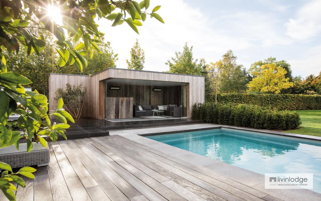 Moderne poolhouse Zwijnaarde
