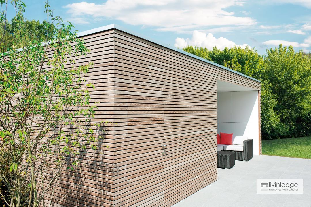 moderne tuinberging - houten bijgebouwen op maat