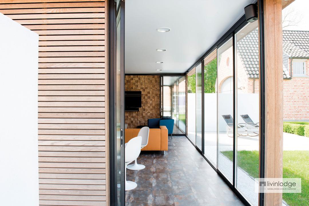 moderne veranda en orangerie -houten bijgebouw op maat