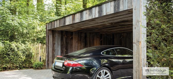 Moderne houten carport op maat