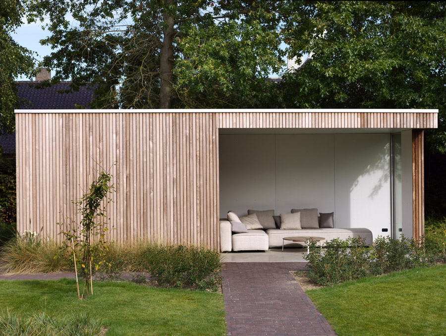 Moderne tuinberging annex loungeruimte te roeselare for Mobiele woning in de tuin